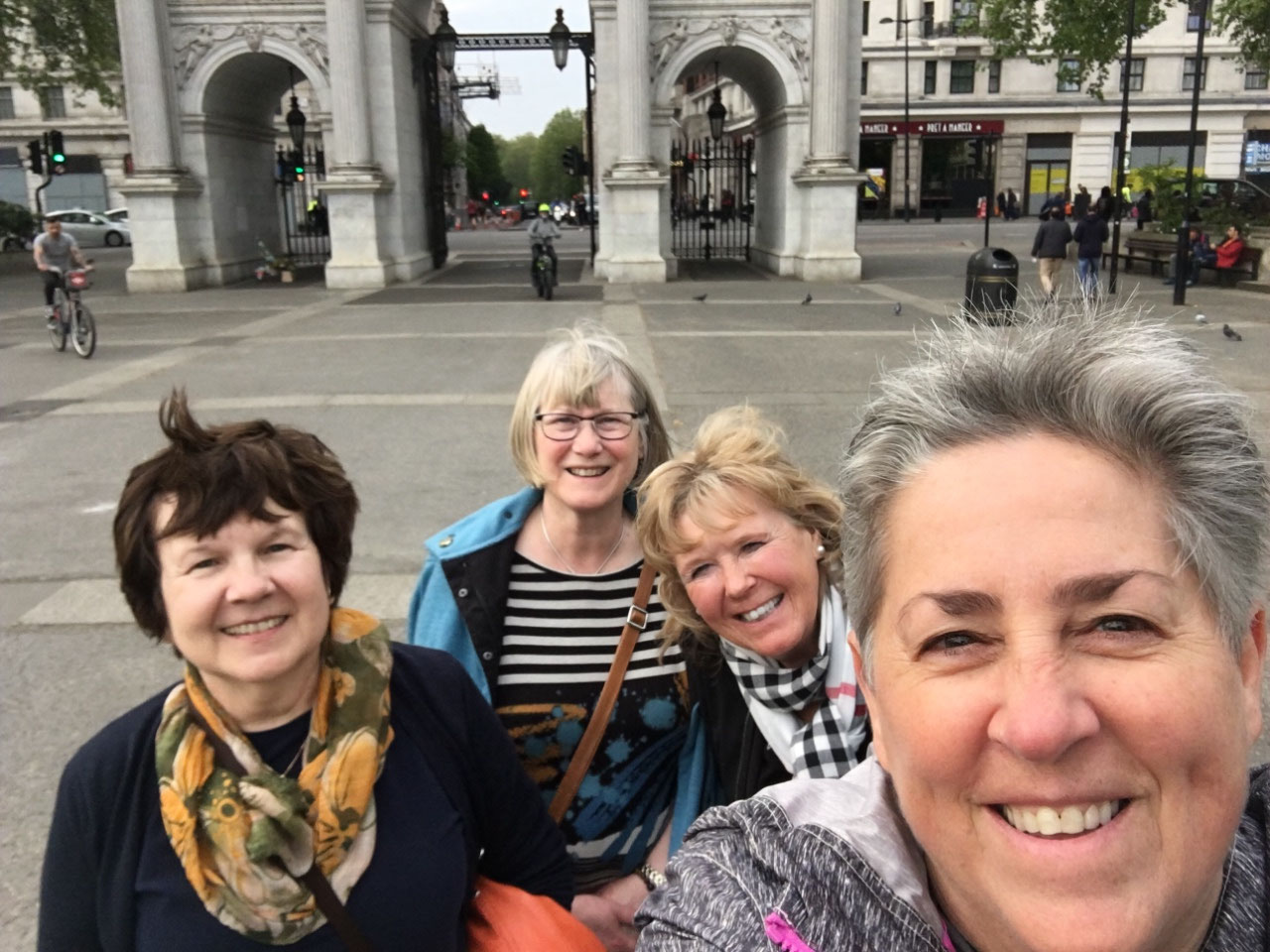 The gang at Marble Arch