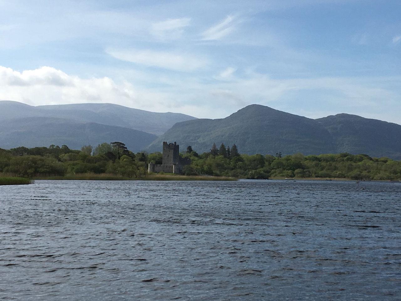 Ross Castle across the lake