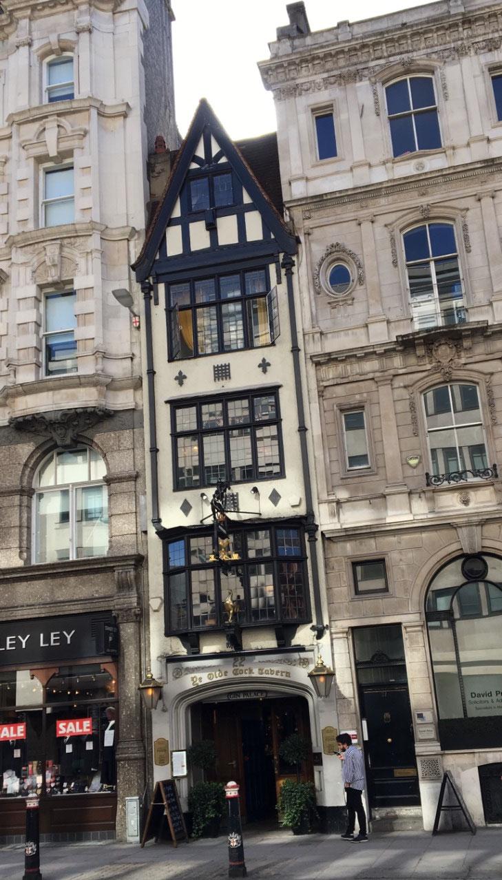 A very narrow building