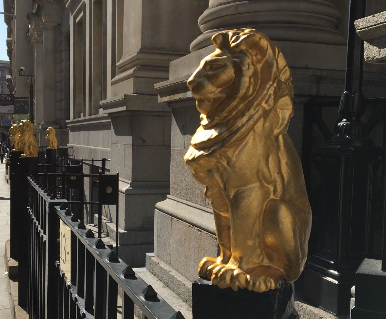 Lions outside the Law Society