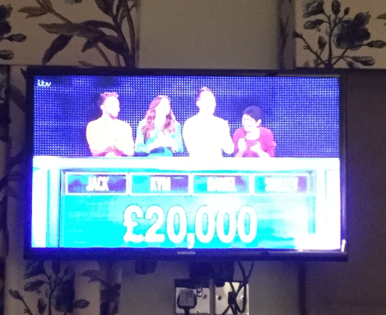 And the Corrie Team beat the Chaser