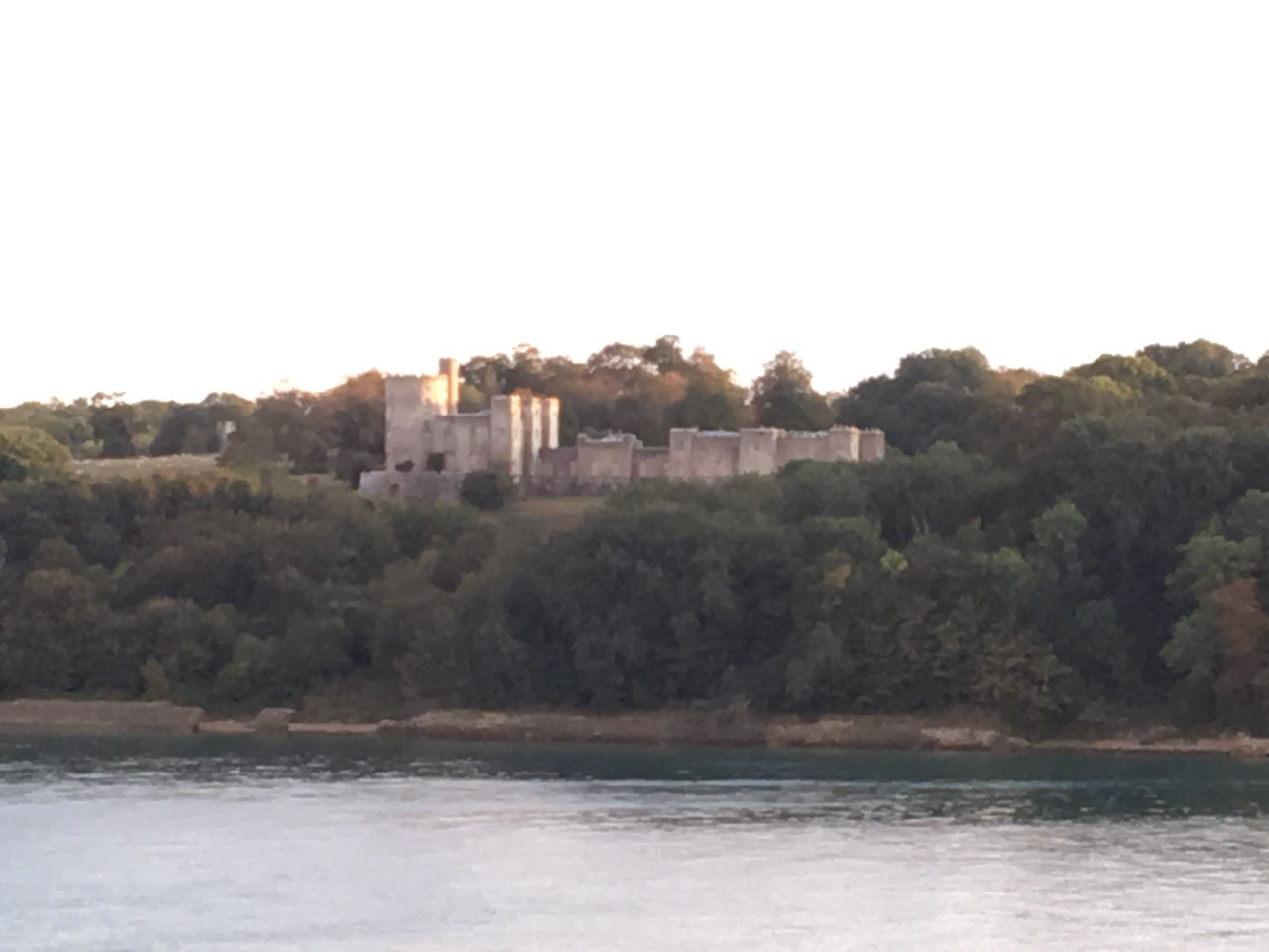 Castle on the way out of Southampton harbour