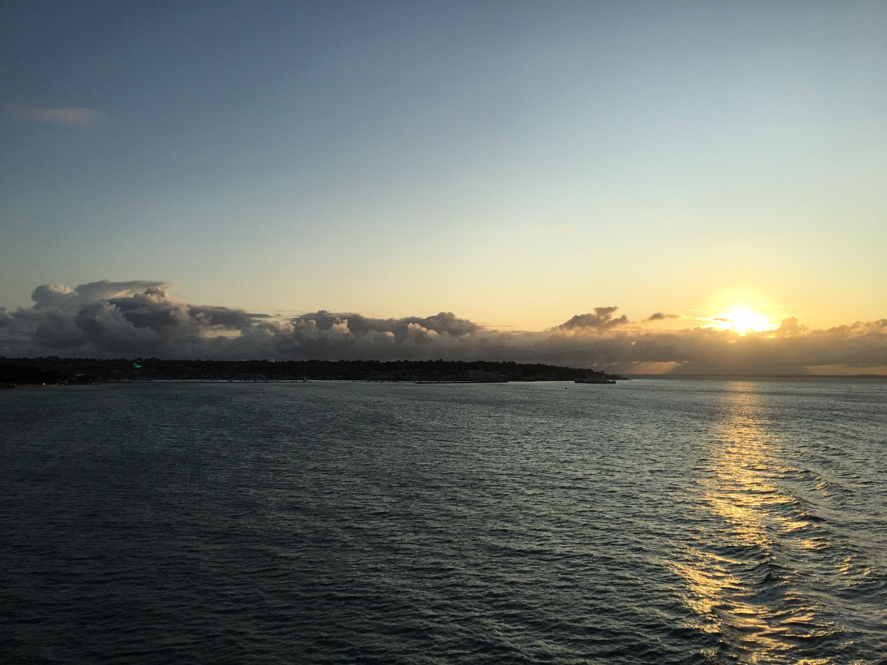 First cruise sunset