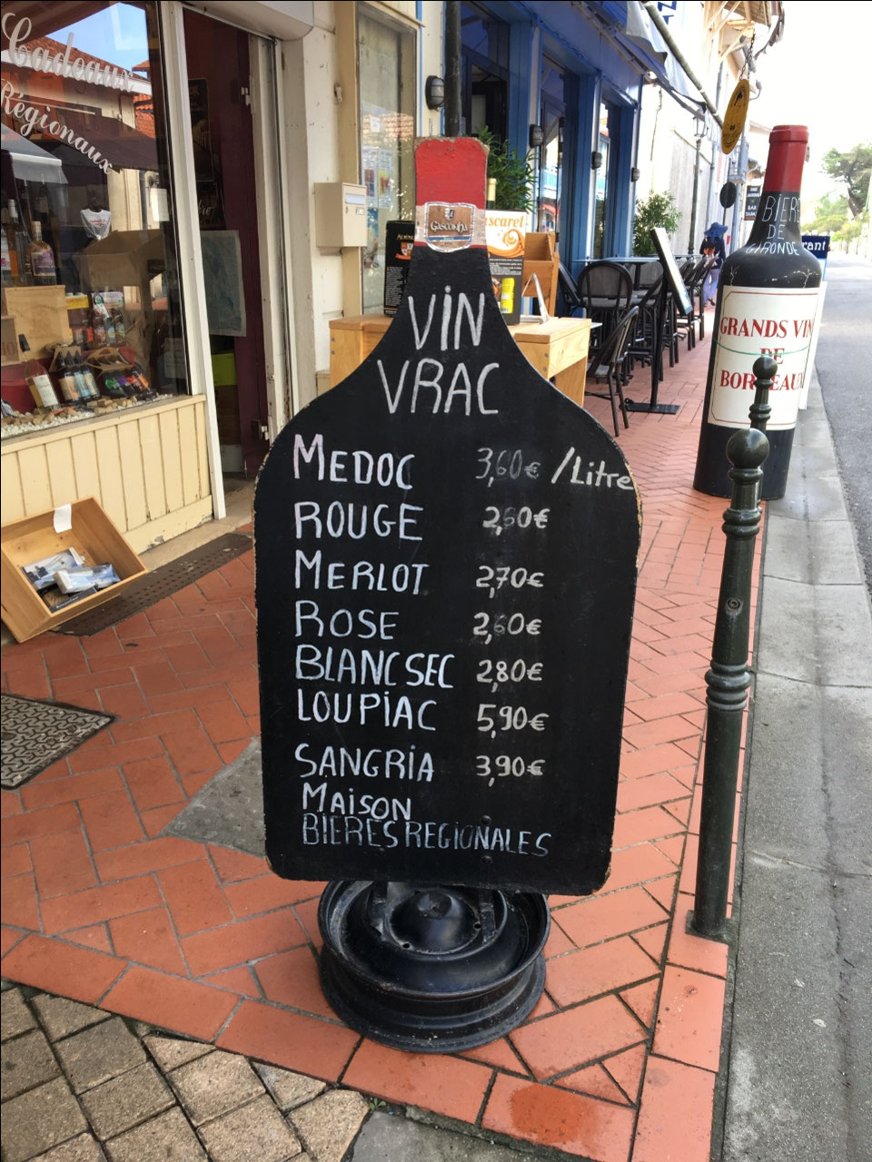 Good prices for wine