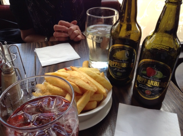 Chips and Cider...life is good!