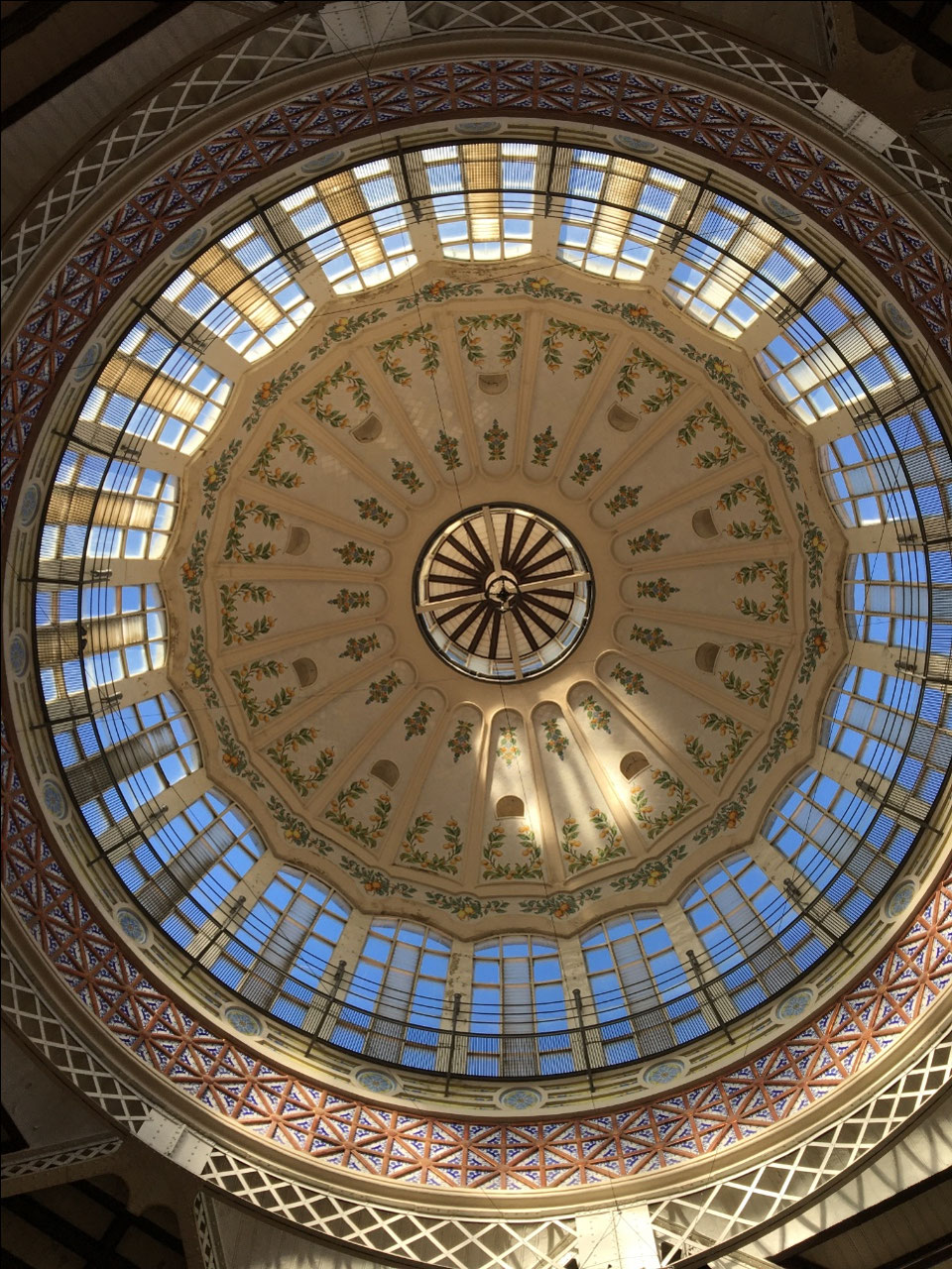 The skylight in the Mercado Central
