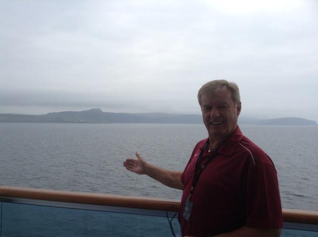 Passing Kier's ancestral home on Isle of Skye