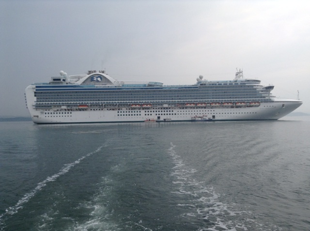 There she is...the Ruby Princess from our tender