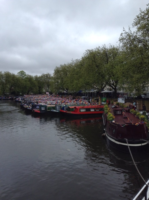 Tons of canal boats at the Canal Cavalcade