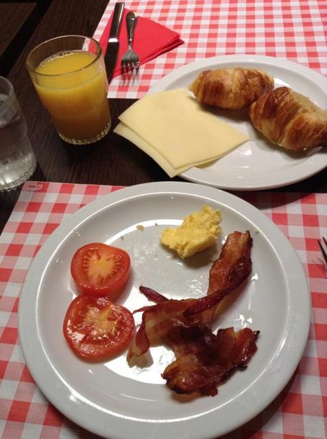 the hotel breakfast