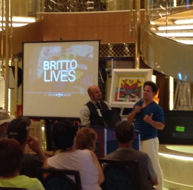 Some famous artist on board...Romero Britto.