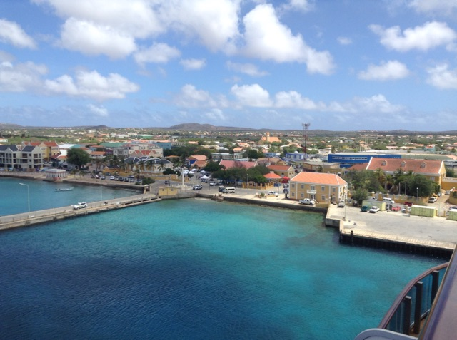 Beautiful blue water of Bonaire