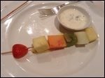 It was 2 fruit kebabs, but I was late on the photo