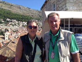 On the city walls of Dubrovnik