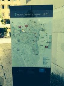 Corfu Town map