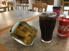 My pre-flight snack