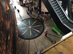 Compass design in the floor
