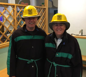 Kitted out in our mining gear