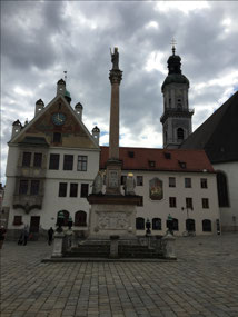 The Marienplatz here in Freising