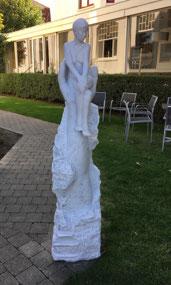 Art exhibit at a De Haan  hotel