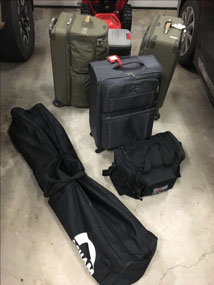 That's ALOT of luggage for 2 people!