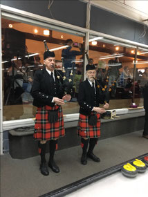 Pipers for the opening