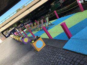 A work of art??? Or a park bench pontoon?