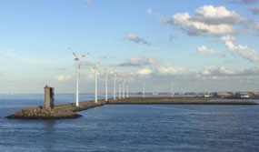 Leaving Zeebrugge harbour