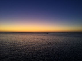Sunrise in Lisbon harbour