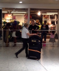 There's Fay arriving in Heathrow