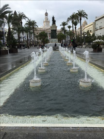 Fountains and monuments