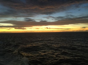 Sunrise on the high seas