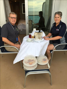Started our day with a Deluxe Balcony Breakfast!