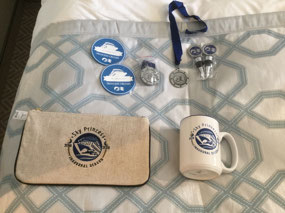 Prize swag from the Ultimate Trek