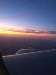 Sunrise from 36,000 feet