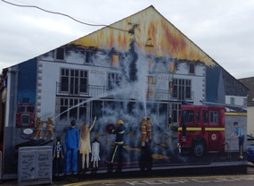 One of the many murals in Invergordon