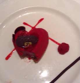 It was shaped like a heart...but I bit into it!