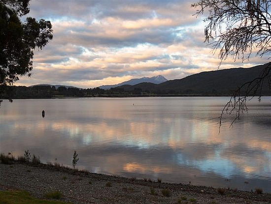 Lake at Dawn, Te Anau