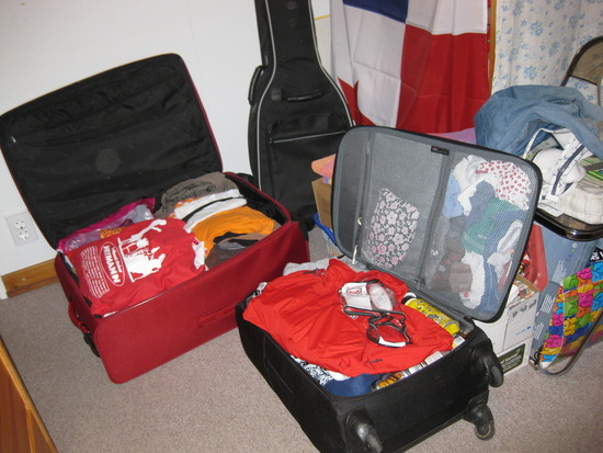 Die Koffer sind gepackt....