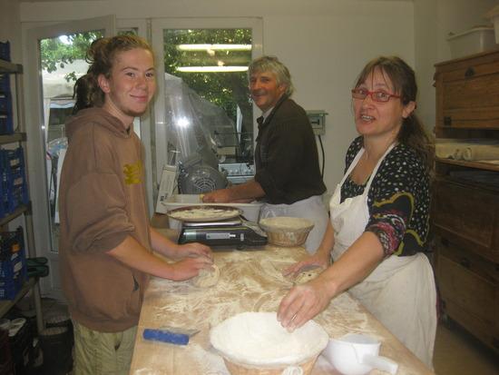 Théo, Philippe und Marie-Laure bei der Arbeit