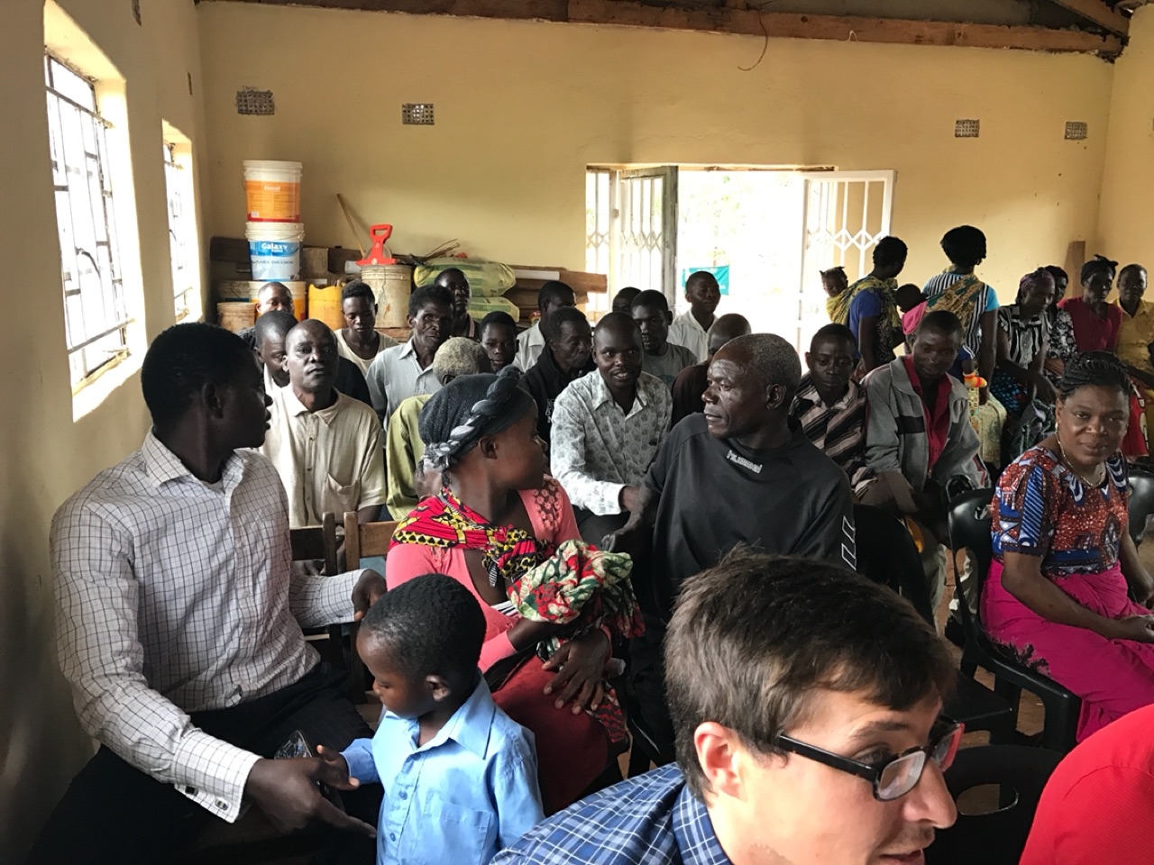 The men and visitors in Chipata, Zambia