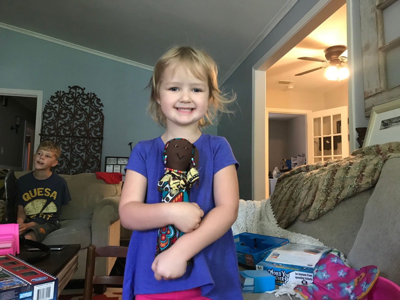 my niece LuLu and her doll Juliana.
