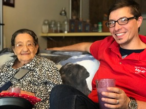 Lewis and grandma Nettie