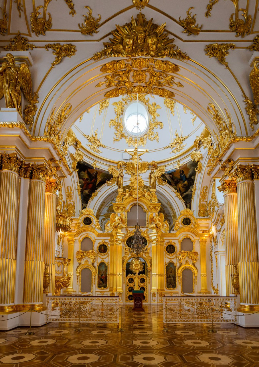 The church inside the Hermitage
