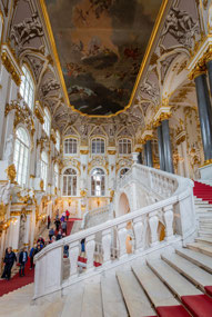 Grand entrance at the Hermitage