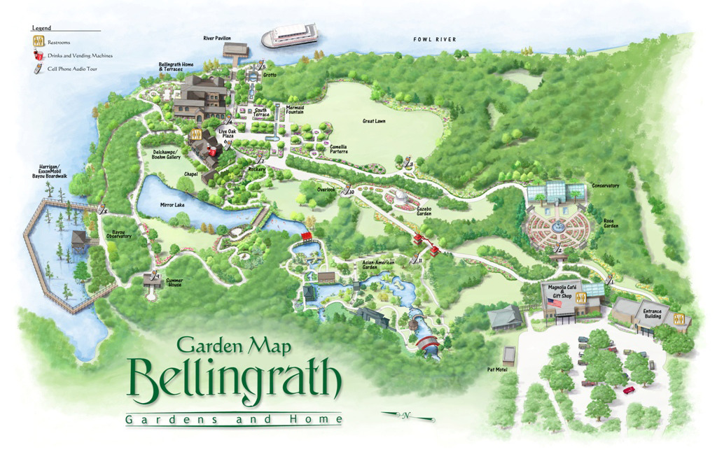 Bellingrath Garden map