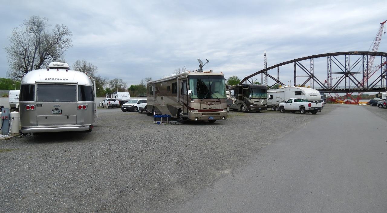 Our site.....big gravel parking lot