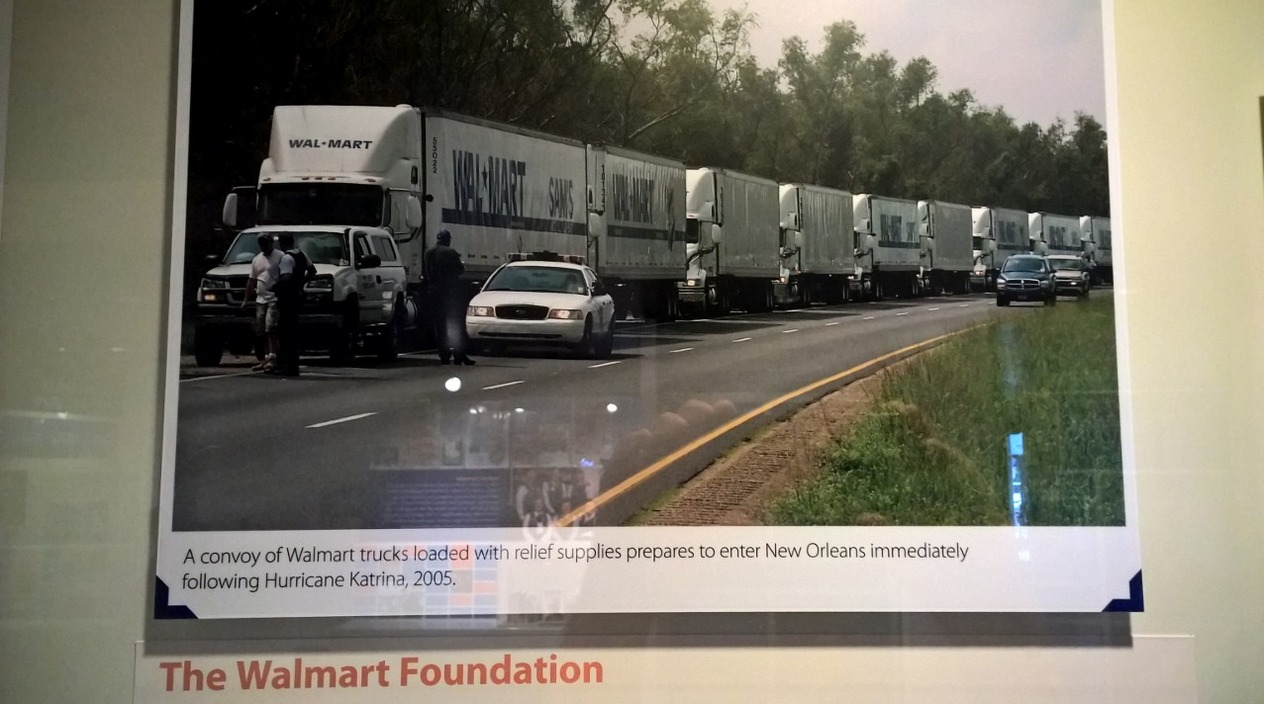 Lined up to help after Katrina