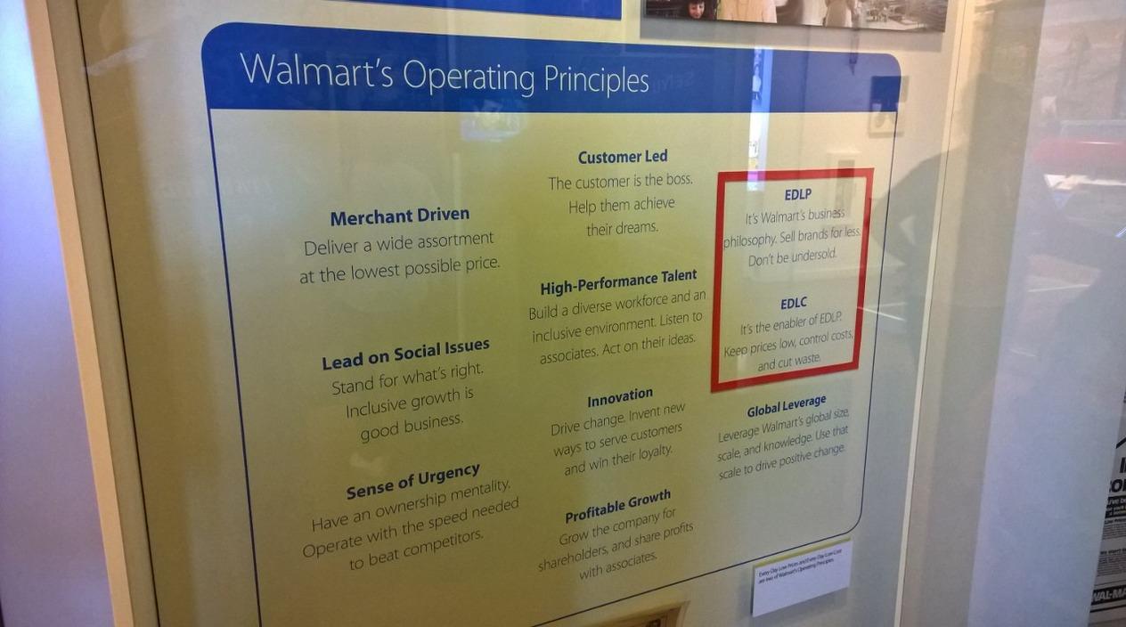 Walmart Operating Principles
