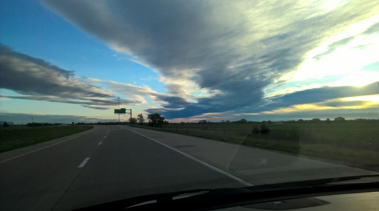 Eastern Kansas morning sky